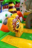 Los animales del bosque de castillo inflable saltando con la diapositiva Combo CHB800