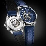 Sporten van de van het Bedrijfs merk van de Kalender van de Tijd van de Luxe van de Manier van het Horloge 2018 van mensen de Automatische Mechanische Waterdichte Toevallige Horloges van het Leer
