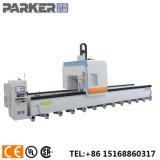 Perfil de aluminio pesado molienda perforación tocando el centro de la máquina de corte