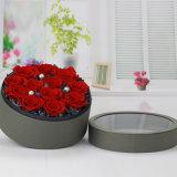 El papel de lujo en venta caliente cuadrado de cartón Caja de Rosas Regalos Hat Hat Caja con tapa