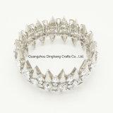 Moda moda Silver-Color Triángulo Rhinestones estirar brazalete para mujer Pulsera Joyería Joyas