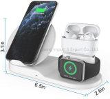 2020 Nova sem fio 3 em 1 Wireless suporte de carga, sem fio compatível com iPhone 11/11 PRO Max/X/Xs max/8 Apple Carregador de relógio 5 4 3 2 1 Airpods 3 2 1