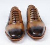 Nuevo diseño de cuero auténtico Mens Zapatos de negocios