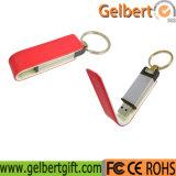 Tecla de couro correntes Thumb Drive Flash USB 2.0 Memory Stick