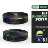 Nouvelle arrivée 4G RAM 64G ROM Android 8.1 T95q 5.8G 2.4G/WiFi H. 265 4K Smart TV Box
