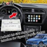 Interfaccia di percorso di GPS del Android 6.0 per Volkswagen Tiguan Sharan Magton con WiFi, Mirrorlink, programma in linea, USB Carplay facoltativo