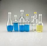 Miniwein-Glas-Alkohol-Flasche mit Aluminiumschutzkappe 50ml 100ml