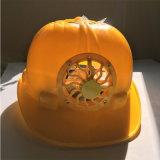 太陽電池パネルの構築のヘルメットPPEのための小型ファンABS PEの安全ヘルメット