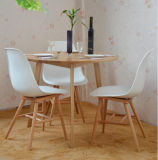 Madeira de carvalho contínua que janta a tabela do jogo um com três cadeiras (M-X1025)