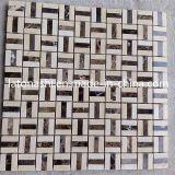 Плитка мозаики Италия мраморный водоструйная, мозаика восьмиугольника Calacatta белая шевронная