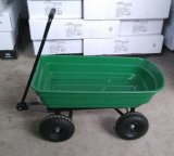 Reboque de jardim de serviço pesado, carrinho de ferramentas de despejo de utilidade