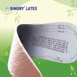 Cojín del zapato del algodón de la plantilla del zapato del látex con diverso patrón