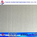 Piatto di superficie dell'acciaio inossidabile di Hariline/no. 4 di colore nei prezzi dell'acciaio inossidabile con il PVC