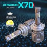 新しいX70 H7 12V 24V自動車LEDのヘッドライトの球根の自動ライト60W 15600lm