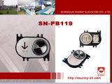 Tastzeichen mit Blindenschrift-Höhenruder-Taste (SN-PB119)