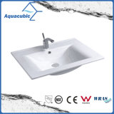 Het Rechthoekige Bassin van uitstekende kwaliteit van Polymarble van de Badkamers (ACB0090)