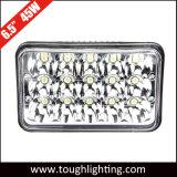 45W 장방형 트럭을%s 자동 LED에 의하여 밀봉되는 광속 Offroad LED 모는 빛