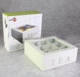 غيرمكتمل [بين ووود] يخلو شاي يعبّئ صندوق مع غطاء زجاجيّة