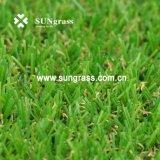 15 millimètres de jardin de loisirs d'herbe de aménagement à haute densité d'article truqué (SUNQ-AL00081)