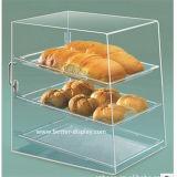 Ясная акриловая коробка хранения хлеба органического стекла (BTR-K3002)