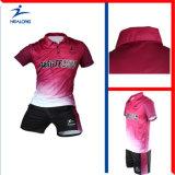 Healong modificó el tenis Jersey de la impresión para requisitos particulares de la sublimación de la ropa de deportes