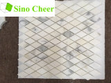 Плитка мозаики Polished формы диаманта белая мраморный