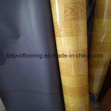plancher noir Rolls de PVC de support de 0.35mm