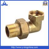 La guarnición de manguito de cobre amarillo del codo con la compresión termina (YD-6039)