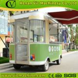 Móvil eléctrico carreta quiosco de comida rápida con cuatro ruedas máquina