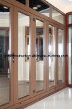 Portas de alumínio de alta qualidade de dupla janela e porta de chuveiro e porta de chuveiro com porta ASE / NZS2208
