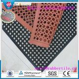 Antibakterielle Entwässerung-Gummifußboden-Matte, Öl-Widerstand-Gummiküche-Matte