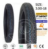 Línea doble 3.00-18 del neumático de la vespa del neumático de la motocicleta de la moto
