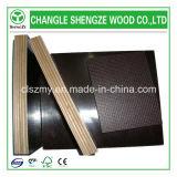La película marrón/negro ante la madera contrachapada