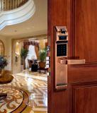 Serratura di portello elettronica d'ottone di parola d'accesso della villa e serratura di portello dell'impronta digitale