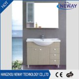 Module neuf de vanité de salle de bains de mélamine de modèle avec le miroir