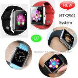 SIMのカードサポートMtk2502スマートな腕時計の携帯電話Q7
