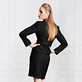 女性ウールかポリエステルブレザーのスーツのスーツの習慣のスーツ
