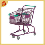4 Wheels Steel Chrome Gegalvaniseerde Supermarkt Shopping Trolley