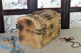 Деревянная коробка китайской древесины с кораблем пожара ретро