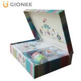꽃에 의하여 인쇄되는 선물 상자 판지 엄밀한 포장 상자