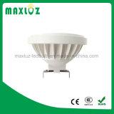 12W Nouveau projecteur LED AR111 avec base GU10 et G53
