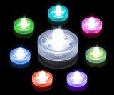 De kleur-veranderende Elektronische LEIDENE Zonder vlammen thee-Lichten van de Kaars