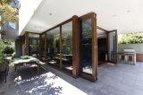 Portello di piegatura di alluminio di vetro Tempered del doppio della fabbrica del portello del Guangdong
