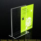 Diverses tailles T claire de la forme d'affichage acrylique, titulaire de menu