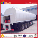 Transportador de asfalto camión cisterna de acero semi remolque betún depósito calefacción