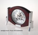 Reloj de escritorio de madera de alta calidad del movimiento del esqueleto K3021