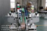 Double machine à étiquettes automatique d'avant et de dos de collant de bouteille de côtés