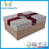 Caixa de presente de embalagem de papel rígido preta personalizada