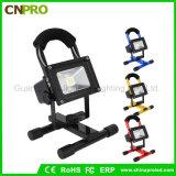 Portátiles ultra brillante de la luz del punto inalámbrico trabajo de la lámpara de 10W reflectores LED recargable
