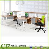 Estação de trabalho do escritório do único assento da mesa da gerência